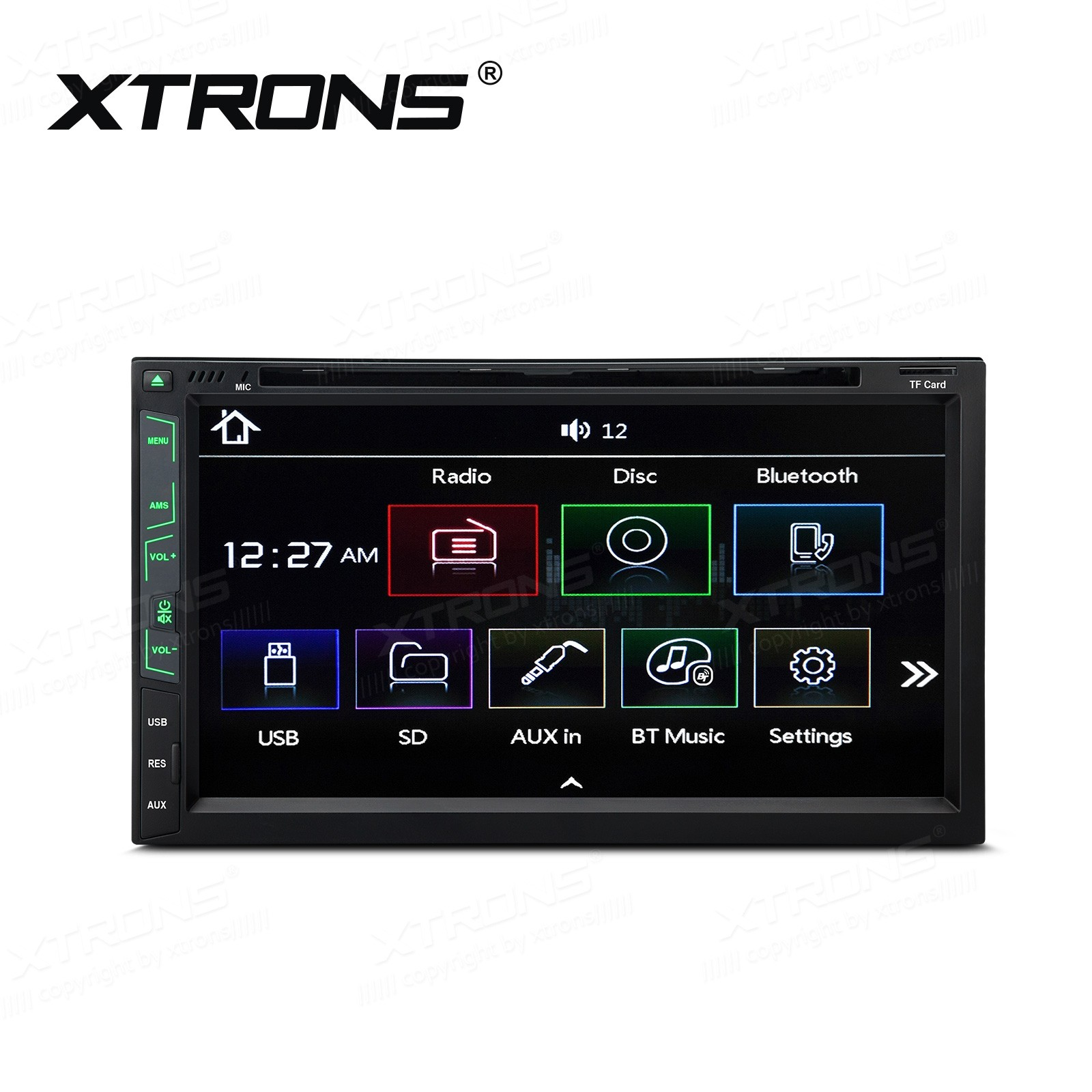 "6.95"" In-Dash Double Din touch screen Receiver"