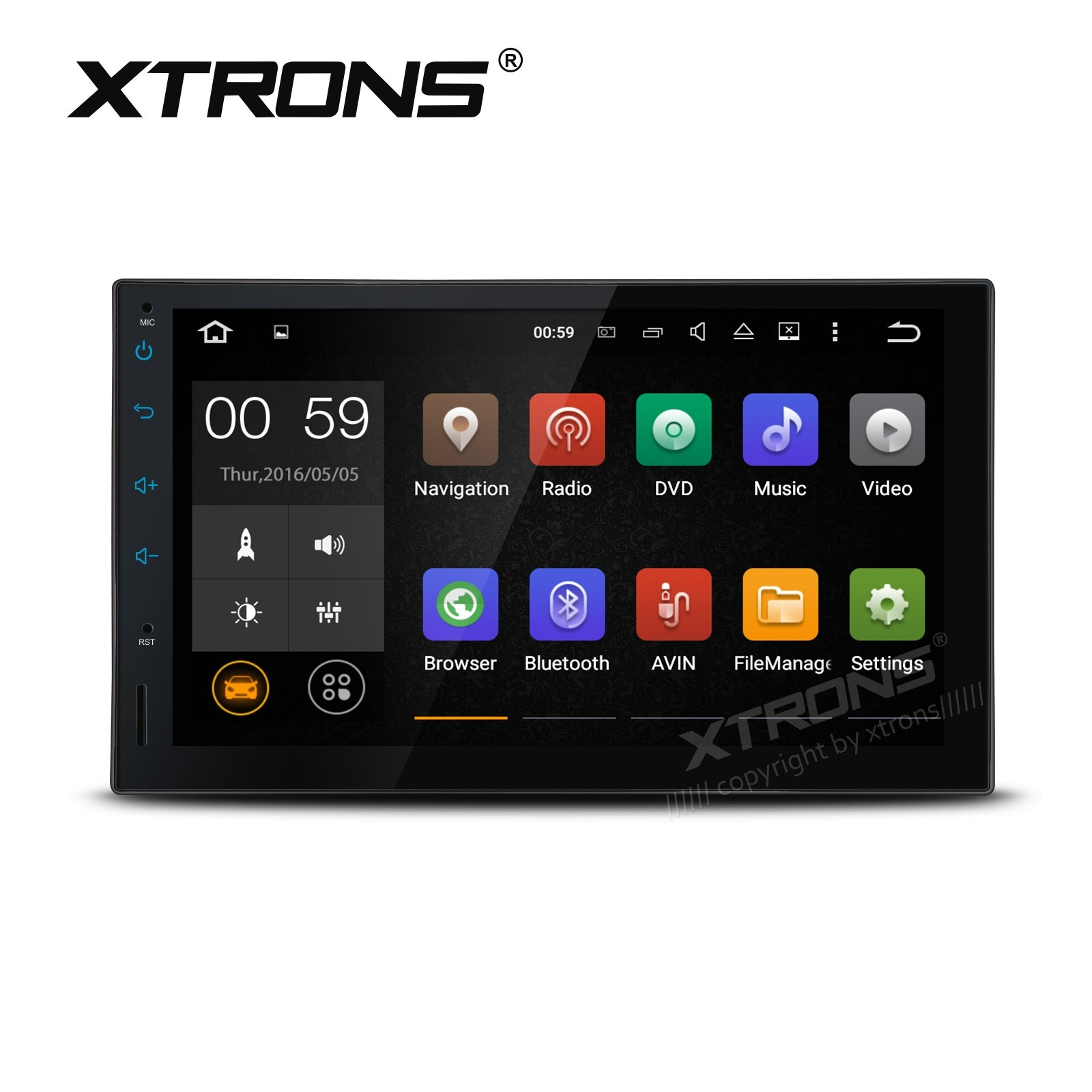 """7"""" Android 6.0 Marshmallow Quad Core 64Bit  Operating System 64Bit CPU Processor Car Stereo with Screen Mirroring & OBD2"""