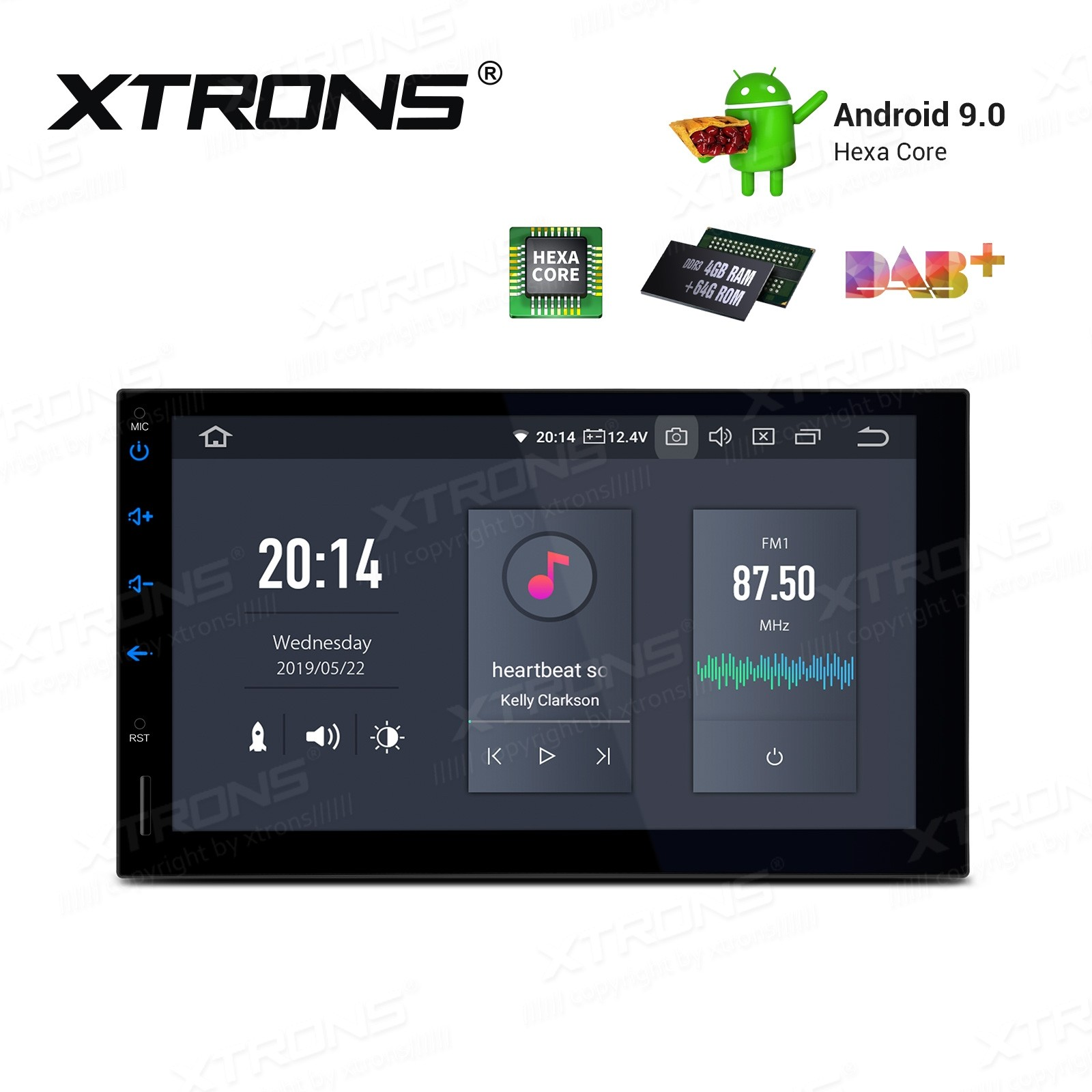 7 inch Android 9.0 Double Din car stereo Navigation system with HDMI Output