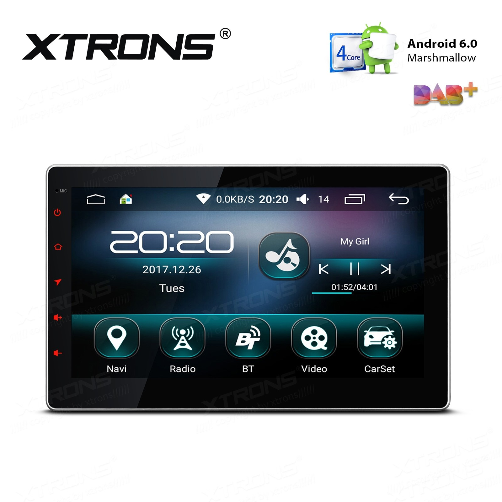 """10.1"""" Android 6.0 Marshmallow Quad Core 16G ROM HD Digital Touch Screen Car Multimedia Player"""