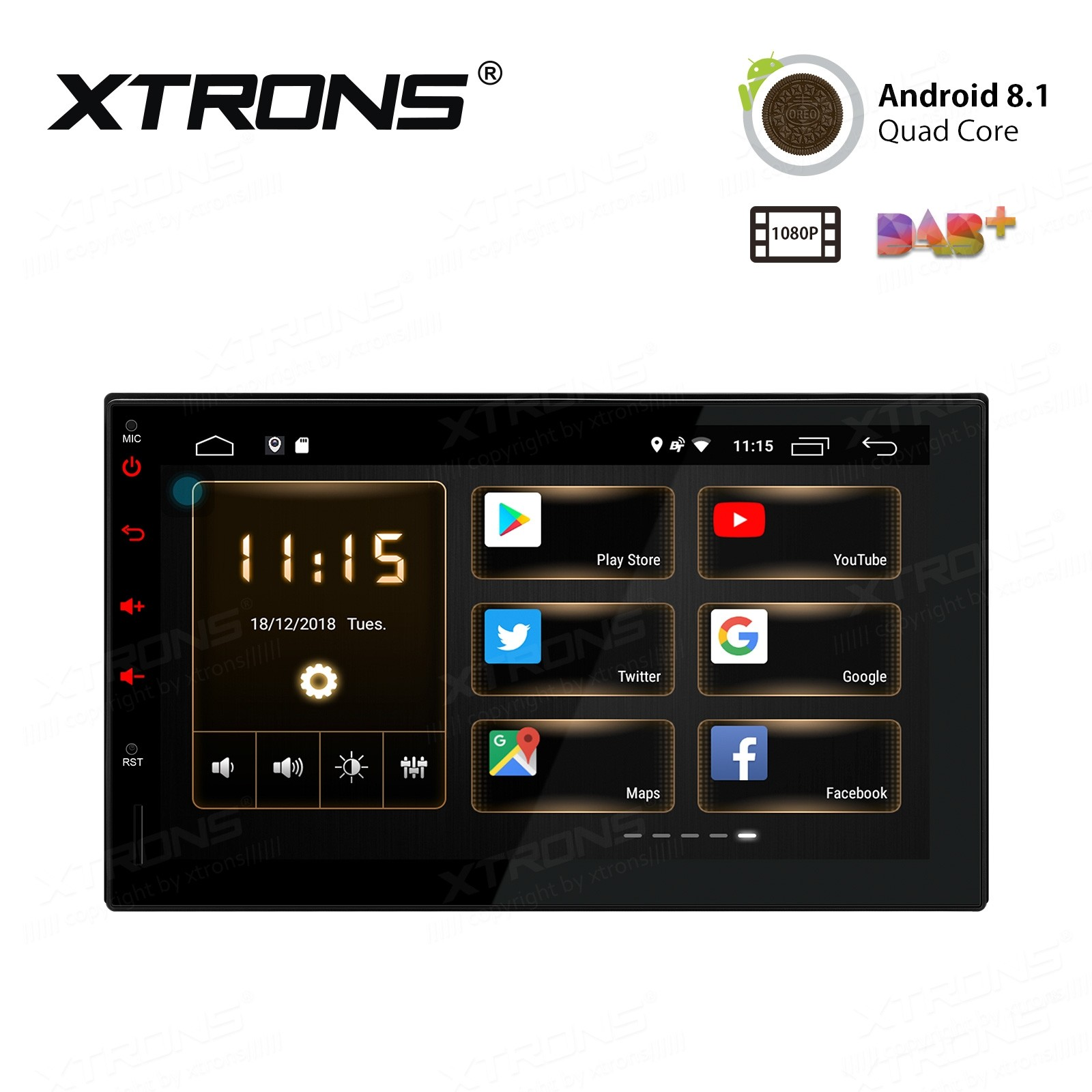 "7"" Android 8.1 HD Screen Multifunctional Android car stereo with Full RCA Output"