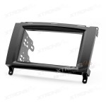 Double Din In-dash Car Audio Installation Kit Fascia Plate for Mercedes-Benz Series
