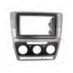 Car CD Stereo Single Din Fascia Fitting Surround Panel for Skoda Octavia II