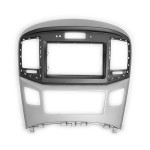Black&Silver Double Din Stereo Fascia Fitting Kit for HYUNDAI H-1 Starex,i800,iLoad,iMax 2015+
