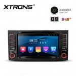 "7"" Android 8.1 with Full RCA Output In-Dash GPS Navigation Multimedia System Custom Fit for Volkswagen"