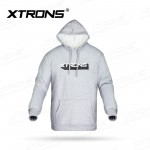 XTRONS Unisex outware fleece pullover hoodie grey