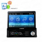 "7"" Android 5.1 Lollipop 64Bit Operating System Quad Core One Din Car Stereo with Screen Mirroring Function"
