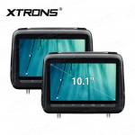 "2x10.1"" HD Digital Screen Touch Panel Leather Cover Car Headrest DVD Player with HDMI Port"