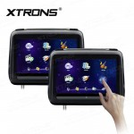 "2x10.1"" HD Digital Screen Touch Screen Leather Cover Car Headrest DVD Player with HDMI Port"