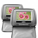 "2x7"" headrest DVD player with digital screen/ IR/ FM Transmitter *zip cover*"