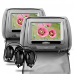 "XTRONS 2 X 7"" Digital Screen Headrest DVD Player with 2 x headphones"