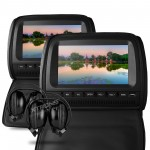 "Xtrons HD905D 2 x 9"" In Car Headrest DVD Players with 2 Headphones"