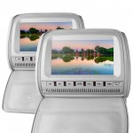 "2x9"" headrest monitor DVD player with digital screen/ IR/ FM Transmitter *zip cover*"