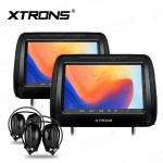 "2*9"" DVD Player Well Designed Car Headrest support HDMI Input with 2 headphones"