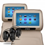 Touch Screen Headrest DVD Players  with 2 headphones