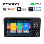 "7"" Android 10.0 car stereo Multimedia Navigation system with DVD player plug-and-play design Custom Fit for A3 