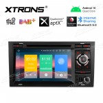 "7"" Android 10.0 car stereo Multimedia Navigation system with DVD player plug-and-play design Custom Fit for Audi 