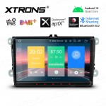 9 inch Android 10.0 Car Stereo Multimedia Navigation System Custom Fit for Volkswagen/Skoda/Seat
