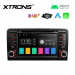 7 inch Android 10.0 Infotainment System Double DIN Multimedia Car Stereo Custom Fit for Audi