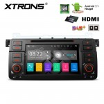 """7""""Android 7.1 Quad Core 16GB ROM + 2G RAM HD Digital Touch screen HDMI Car DVD Player Costom Fit for BMW E46/ Rover 75/ MG ZT"""