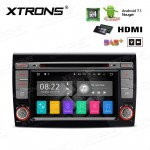 "7"" Android 7.1 Quad Core 16GB ROM + DDR3 2G RAM HD Digital Touch Screen HDMI Car DVD Player Costom fit for Fiat"