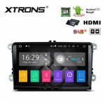 "9"" Android 7.1 Quad Core 16GB + DDR3 2G RAM HD Digital Touch Screen HDMI Car Stereo Costom fit for Volkswagen / Seat / Skoda"
