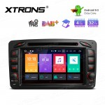 "7"" Android 9.0 Octa-Core 32GB ROM + 4G RAM Multimedia DVD Player support car auto play Custom fit for Mercedes-Bens"