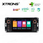 6.2 inch Android 9.0 Octa-Core 64GB ROM + 4G RAM Car DVD Player Multimedia GPS System Custom fit for JEEP / DODGE / Chrysler