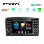 7 inch Android 10.0 Octa-Core 64G ROM + 4G RAM Car Multimedia GPS DVD Player Custom fit for Mercedes-Benz