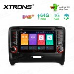 7 inch Android 9.0 Octa-Core 64GB ROM + 4G RAM Car DVD Player Multimedia GPS System Support CarAutoPlay Custom fit for Audi