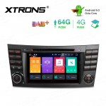 7 inch Android 9.0 Octa-Core 64GB ROM + 4G RAM Car DVD Player Multimedia GPS System Support CarAutoPlay Custom fit for Mercedes-Benz