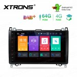 9 inch Android 9.0 Octa-Core 64G ROM + 4G RAM Car Stereo Multimedia GPS System Custom Fit for Mercedes-Benz