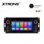 """6.2"""" Android 8.1 with Full RCA Output In-Dash GPS Navigation Multimedia System Custom Fit for Jeep   Dodge   Chrysler"""