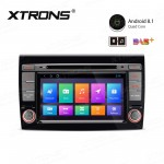 "7"" Android 8.1 with Full RCA Output In-Dash GPS Navigation Multimedia System Custom Fit for Fiat"