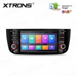"6.2"" Android 7.1 Quad core 16GB ROM in-dash mechless car stereo with full RCA Output Custom Fit for FIAT"