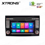 "7"" Android 7.1 Quad Core 16GB ROM HD Digital Multi-Touch Screen Car DVD Player with Full RCA Output Costom fit for Fiat"