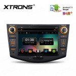 """7"""" Android 7.1 Nougat Quad core 16GB ROM HD Digital Multi Touch Screen Car DVD Player Custom Fit for Toyota RAV4"""