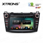 "8"" Android 7.1 Nougat Quad core 16GB ROM HD Digital Multi Touch Screen Car DVD Player Custom Fit for Mazda 3"