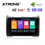 "9"" Android 9.0 Octa-Core 32GB ROM + 4G RAM Car Multimedia Stereo with GPS Custom Fit for Mercedes-Bens"