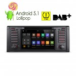 """7 """"Android 5.1 Lollipop 64-bit Operating System  Quad Core Car DVD Player With Screen Mirroring Function & TPMS Function & OBD2 For BMW 5 Series/X5"""