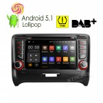 """7""""Android 5.1 Lollipop 64-bit Operating System  Quad Core Car DVD Player With Screen Mirroring Function & TPMS Function & OBD2 For Audi TT MK2"""