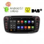 """7""""Android 5.1 Lollipop 64-bit Operating System  Quad Core Car DVD Player with Screen Mirroring Function& TPMS Function  & OBD2 for Ford Focus"""