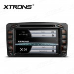 """7""""HD Digital Touch Screen Dual CANbus GPS Navigation Car DVD Player With Screen Mirroring Function Custom Fit for Mercedes-Benz"""
