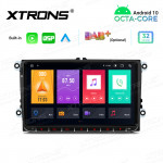 9 inch Android Octa-Core Multimedia Player Navigation System with Built-in Carplay  and Android Auto and DSP for VW | SKODA | SEAT