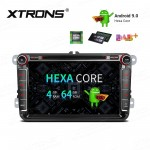 "8"" Android 9.0 HDMI Output Multimedia DVD Player with Car Receiver Navigation System Custom Fit for Volkswagen"