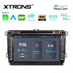 8 inch Car DVD Receiver Navigation System with HDMI Output with Built-in Carplay and Android Auto and DSP Custom Fit for VW/Skoda/Seat