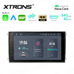 9 inch In-Dash Android Hexa-Core 64bit Processor 4G RAM + 64GB ROM Car Navigation System with HD Output with Built-in Carplay and Android Auto and DSP Custom Fit for VW/SKODA/SEAT