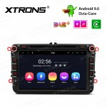 8 inch Android 9.0 Octa-Core Car Stereo Smart Multimedia Player Custom fit for Volkswagen