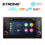 7 inch Multimedia Car DVD Player Navigation System With Built-in CarAutoPlay and DSP Fit for Audi A4 and SEAT