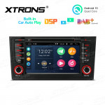 7 inch Android 10 Quad Core Processor Multimedia Car DVD Player Navigation System With Built-in CarAutoPlay and DSP Fit for Audi A6